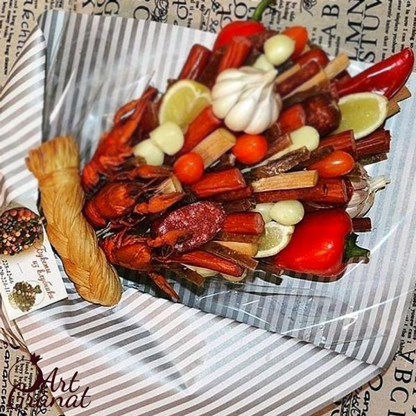 ArtGranat вкусные букеты - мужской букет из раков и лангустинов №3