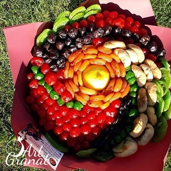 ArtGranat вкусные букеты - Композиции из фруктов, конфет и сухофруктов №6
